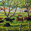 Angus Cows Under The Cool Shade By Prankearts by Richard T Pranke