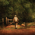 Animal - Dog - A Man And His Best Friend by Mike Savad