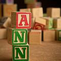 Ann - Alphabet Blocks by Edward Fielding
