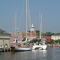 Annapolis Harbor Alongside Dock Street by Christiane Schulze Art And Photography