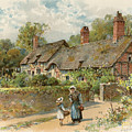 Anne Hathaway's Cottage At Shottery by William Stephen Coleman