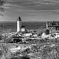 Annisquam Lighthouse Black And White by Liz Mackney