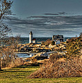 Annisquam Lighthouse Late Autumn by Liz Mackney
