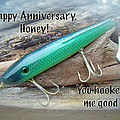 Anniversary Greeting Card - Saltwater Lure by Mother Nature