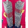 Twin Towers Memorial Sculptures by MERLIN Vernon