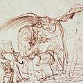 Annunciation  by Rembrandt Harmenszoon van Rijn