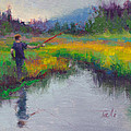 Another Cast - Fishing In Alaskan Stream by Talya Johnson