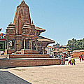 Another Hindu Temple N Bhaktapur Durbar Square In Bhaktapur -nepal by Ruth Hager
