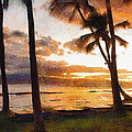 Another Maui Sunset - Pastel by John Dauer