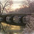 Anteitam Burnside Bridge In Spring Snow by Elaine Plesser