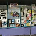 Anti-iraq War Posters 4th Avenue Book Store Window Tucson Arizona 2000 by David Lee Guss