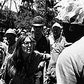 Anti-viet Nam War Protestor Confronting Smoking Marine Pro-war March Tucson Arizona 1970  by David Lee Guss