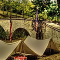 Antietam - 8th Connecticut Volunteer Infantry-a1 Encampment Near The Foot Of Burnsides Bridge by Michael Mazaika