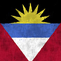 Antigua And Barbuda Flag by World Art Prints And Designs