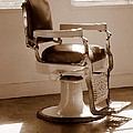 Antiquated Barber Chair In Sepia by Mary Deal