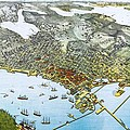 Antique 1891 Seattle Map by Dan Sproul