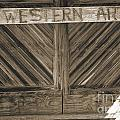 Antique Barn Doors In Sepia Black And White 3003.01 by M K Miller