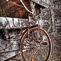 Antique Bicycle by Debra and Dave Vanderlaan