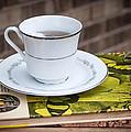Antique Books And Tea by Mechala Matthews