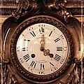 Antique Clock In Sepia by Carol Groenen