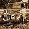 Antique Cut Bed Truck In Sepia by Douglas Barnett
