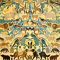 Antique Cutout Of Animals  by American School