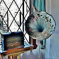Antique Edison Phonograph In The Boardwalk Plaza Lobby - Rehoboth Beach Delaware by Kim Bemis