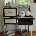 Antique Estate Stove With Cookware by George Pedro