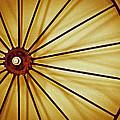 Antique Farm Wheel by Carolyn Marshall