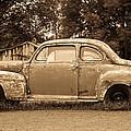 Antique Ford Car Sepia 1 by Douglas Barnett