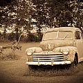 Antique Ford Car Sepia 2 by Douglas Barnett