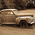 Antique Ford Car Sepia 4 by Douglas Barnett
