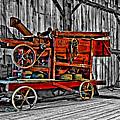 Antique Hay Baler Selective Color by Steve Harrington