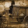 Antique Hearse As Tintype by Crystal Loppie
