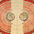Antique Illustrative Map Of The Ptolemaic Geocentric Model Of The Universe 1568 by Mountain Dreams
