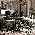 Antique Independence Hall by Olivier Le Queinec