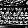 Antique Keyboard - Bw by Christopher Holmes