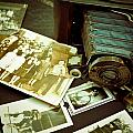 Antique Kodak Camera And Vintage Photographs by Amy Cicconi