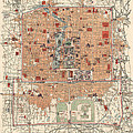 Antique Map Of Beijing China - 1914 by Blue Monocle
