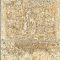 Antique Map Of Beijing China - 1938 by Blue Monocle