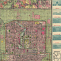 Antique Map Of Beijing China By Jiarong Su - 1921 by Blue Monocle