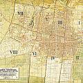 Antique Map Of Del Plano Oficial De La Ciudad De Mexico by Celestial Images