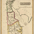 Antique Map Of Delaware By Fielding Lucas - Circa 1817 by Blue Monocle