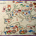 Antique Map Of Europa 1563 by Mountain Dreams
