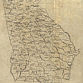 Antique Map Of Georgia - 1893 by Blue Monocle