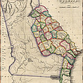 Antique Map Of Georgia By Samuel Lewis - Circa 1810 by Blue Monocle