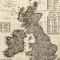 Antique Map Of Great Britain And Ireland By I. G. A. Weidner - 1801 by Blue Monocle