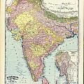 Antique Map Of India - Further India by Celestial Images