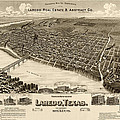 Antique Map Of Laredo Texas - Circa 1892 by Blue Monocle