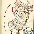 Antique Map Of New Jersey by Celestial Images